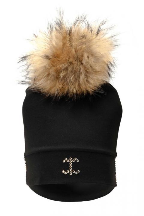 Дамска шапка Black fox - Аксесоари  - Дамски Шапки, Луксозни дрехи, бански 2018, промоция бански, комплект мама и бебе, ленени ризи, дрехи по поръчка, шапки с пух, дамски дрехи, дамски палта, Дамски Шапки