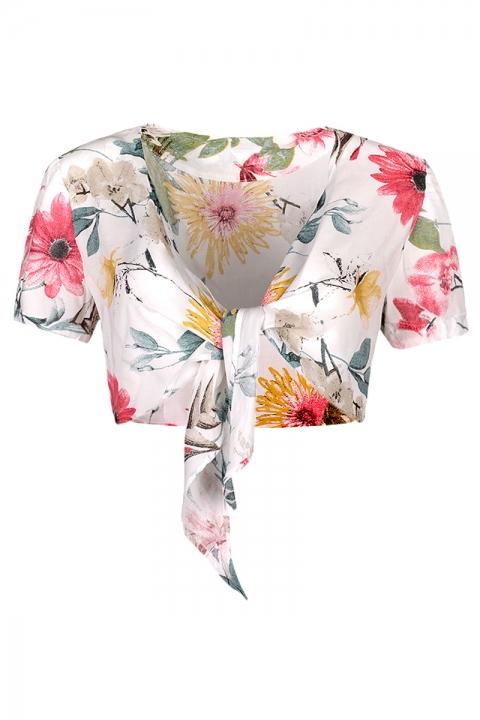 Топ Flowers & Beach - Дамски дрехи  - Топ, Луксозни дрехи, бански 2018, промоция бански, комплект мама и бебе, ленени ризи, дрехи по поръчка, шапки с пух, дамски дрехи, дамски палта, Топ