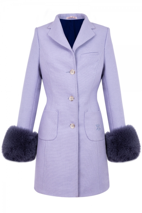Дамско палто SAINT-JEAN - Дамски дрехи  - Палта, Луксозни дрехи, бански 2020, промоция бански, комплект мама и бебе, ленени ризи, дрехи по поръчка, шапки с пух, дамски дрехи, дамски палта, Палта