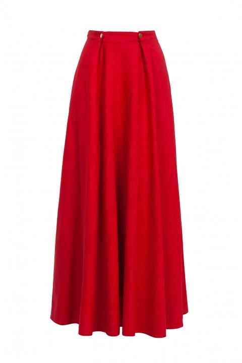 Дамска пола Red F - Дамски дрехи  - Поли, Луксозни дрехи, бански 2019, промоция бански, комплект мама и бебе, ленени ризи, дрехи по поръчка, шапки с пух, дамски дрехи, дамски палта, Поли