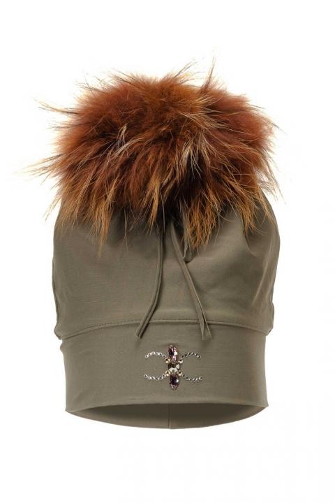 Дамска шапка Green fox - Аксесоари  - Дамски Шапки, Луксозни дрехи, бански 2018, промоция бански, комплект мама и бебе, ленени ризи, дрехи по поръчка, шапки с пух, дамски дрехи, дамски палта, Дамски Шапки