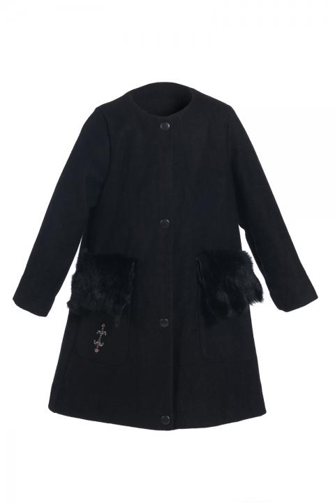 Детско палто Little fox - Детски дрехи  - Палта, Луксозни дрехи, бански 2018, промоция бански, комплект мама и бебе, ленени ризи, дрехи по поръчка, шапки с пух, дамски дрехи, дамски палта, Палта
