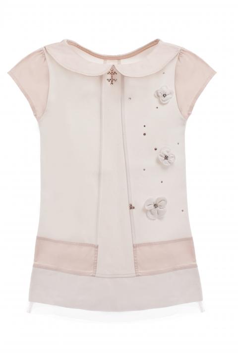Детска рокля Tulip  - Детски дрехи  - Рокли, Луксозни дрехи, бански 2019, промоция бански, комплект мама и бебе, ленени ризи, дрехи по поръчка, шапки с пух, дамски дрехи, дамски палта, Рокли