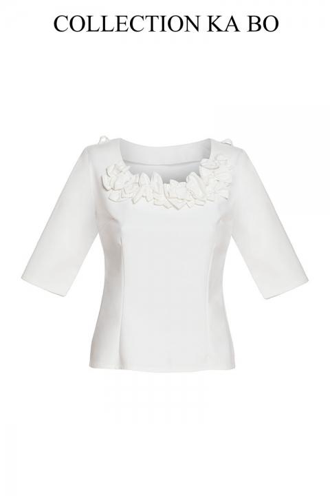 Дамска блуза Ribbon - Дамски дрехи  - Блузи, Луксозни дрехи, бански 2018, промоция бански, комплект мама и бебе, ленени ризи, дрехи по поръчка, шапки с пух, дамски дрехи, дамски палта, Блузи