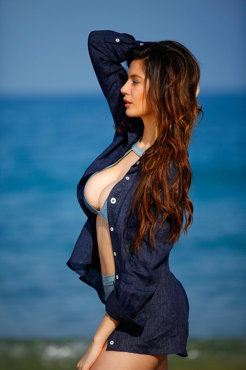 Дамска риза Blue sea