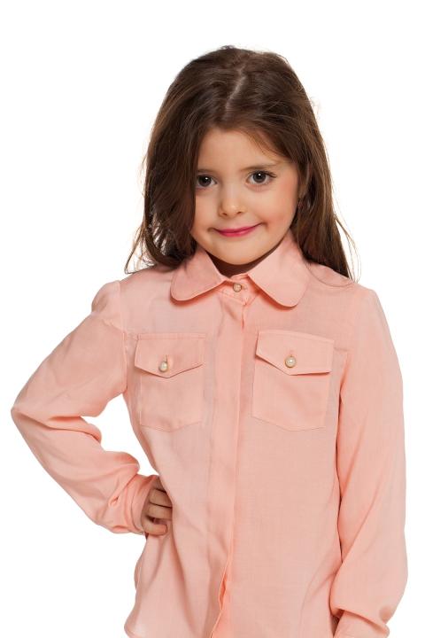 Детска риза Rose - Детски дрехи  - Ризи, Луксозни дрехи, бански 2018, промоция бански, комплект мама и бебе, ленени ризи, дрехи по поръчка, шапки с пух, дамски дрехи, дамски палта, Ризи