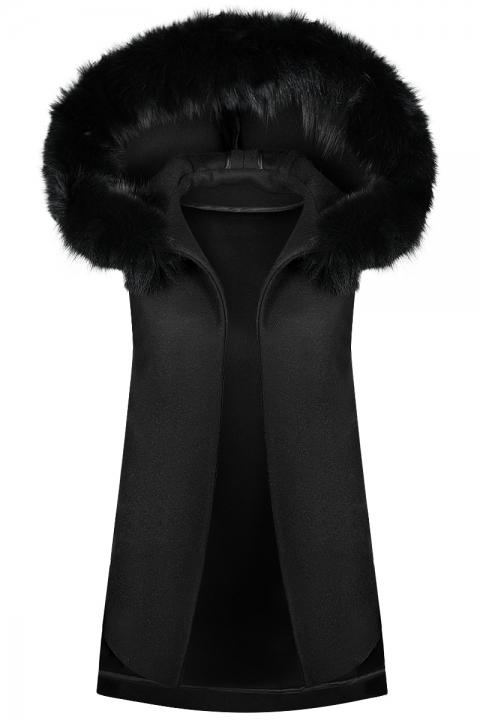 Дамски Елек Fox& Hood - Дамски дрехи  - Елеци, Луксозни дрехи, бански 2020, промоция бански, комплект мама и бебе, ленени ризи, дрехи по поръчка, шапки с пух, дамски дрехи, дамски палта, Елеци