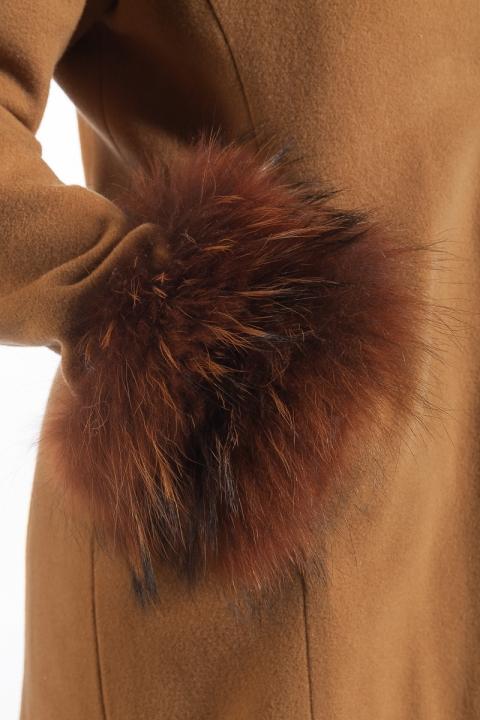 Дамско палто V & F - Дамски дрехи  - Палта, Луксозни дрехи, бански 2020, промоция бански, комплект мама и бебе, ленени ризи, дрехи по поръчка, шапки с пух, дамски дрехи, дамски палта, Палта