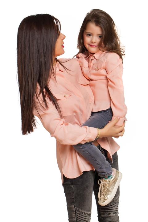Комплект Rose - Дамски дрехи  - Комплекти, Луксозни дрехи, бански 2018, промоция бански, комплект мама и бебе, ленени ризи, дрехи по поръчка, шапки с пух, дамски дрехи, дамски палта, Комплекти