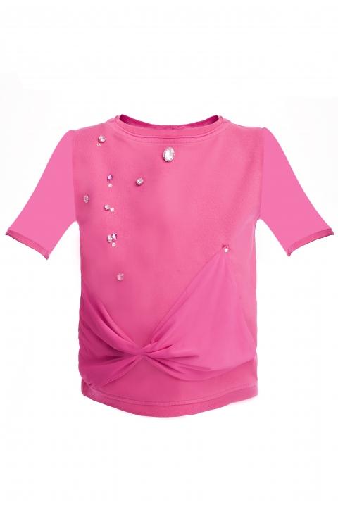 Детска блуза Mini Pink - Детски дрехи  - Блузи, Луксозни дрехи, бански 2018, промоция бански, комплект мама и бебе, ленени ризи, дрехи по поръчка, шапки с пух, дамски дрехи, дамски палта, Блузи