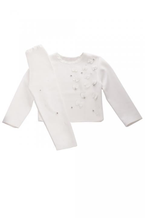 Елегантен детски комплект SENS - Детски дрехи  - Комплекти, Луксозни дрехи, бански 2020, промоция бански, комплект мама и бебе, ленени ризи, дрехи по поръчка, шапки с пух, дамски дрехи, дамски палта, Комплекти