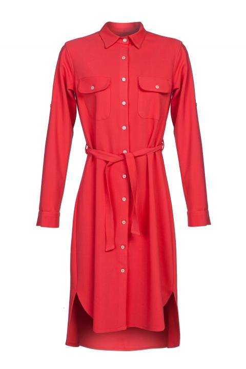 Дамска Риза Karibi - Дамски дрехи  - Ризи, Луксозни дрехи, бански 2018, промоция бански, комплект мама и бебе, ленени ризи, дрехи по поръчка, шапки с пух, дамски дрехи, дамски палта, Ризи