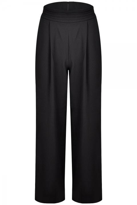 Дамски панталон Black S - Дамски дрехи  - Панталони, Луксозни дрехи, бански 2020, промоция бански, комплект мама и бебе, ленени ризи, дрехи по поръчка, шапки с пух, дамски дрехи, дамски палта, Панталони