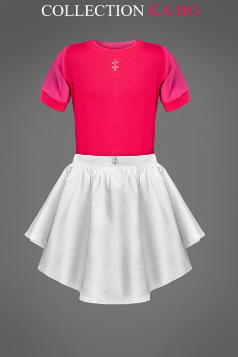 Комплект Топ с пола Pink & co - Дамски дрехи  - Топ, Луксозни дрехи, бански 2018, промоция бански, комплект мама и бебе, ленени ризи, дрехи по поръчка, шапки с пух, дамски дрехи, дамски палта, Топ