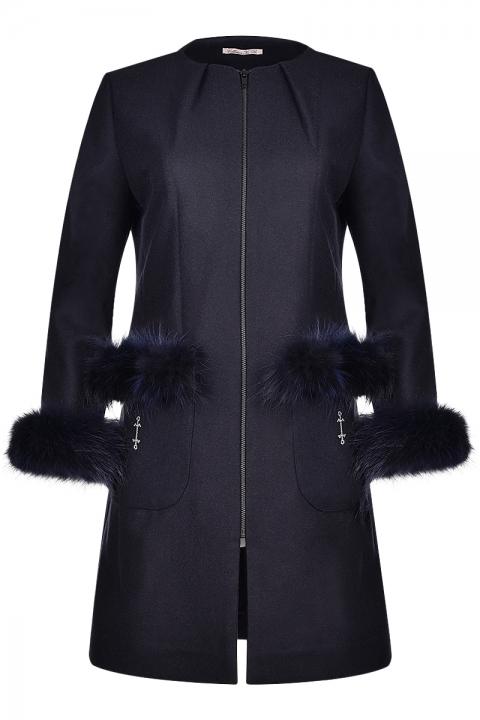 Дамско палто RENARD - Дамски дрехи  - Палта, Луксозни дрехи, бански 2018, промоция бански, комплект мама и бебе, ленени ризи, дрехи по поръчка, шапки с пух, дамски дрехи, дамски палта, Палта