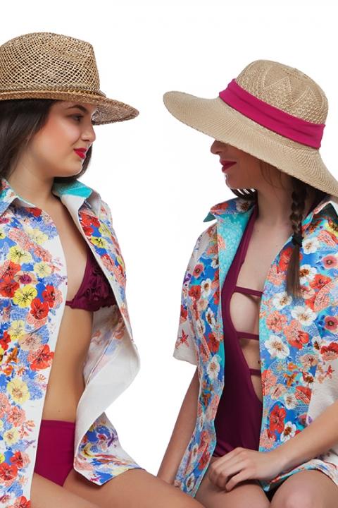 Дамска Риза с избродирани флорални мотиви