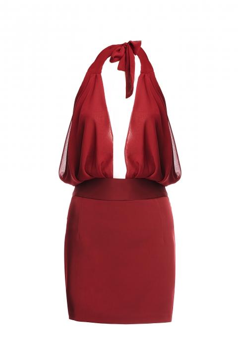 Рокля Mini Dress ASKED WOMEN - Дамски дрехи  - Рокли, Луксозни дрехи, бански 2018, промоция бански, комплект мама и бебе, ленени ризи, дрехи по поръчка, шапки с пух, дамски дрехи, дамски палта, Рокли