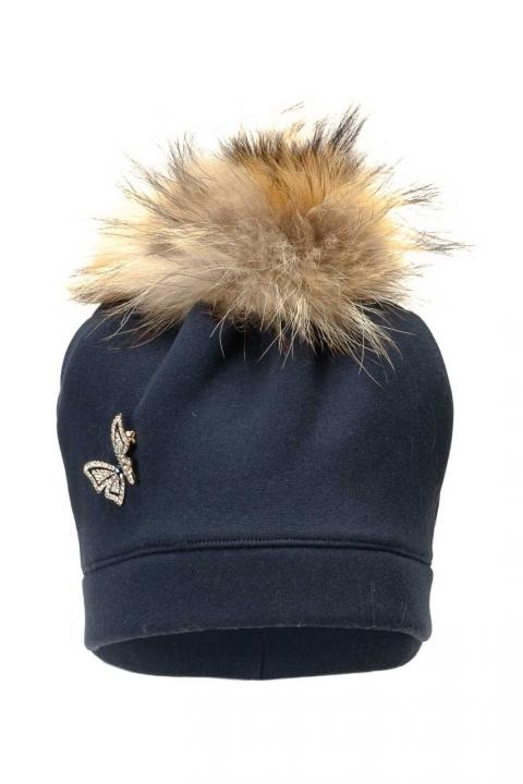 Дамска шапка Blue fox - Аксесоари  - Дамски Шапки, Луксозни дрехи, бански 2020, промоция бански, комплект мама и бебе, ленени ризи, дрехи по поръчка, шапки с пух, дамски дрехи, дамски палта, Дамски Шапки