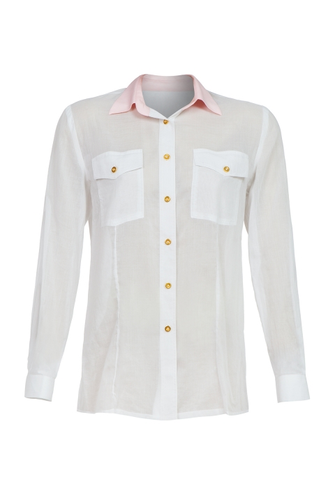 Дамска Риза White sports  - Дамски дрехи  - Ризи, Луксозни дрехи, бански 2019, промоция бански, комплект мама и бебе, ленени ризи, дрехи по поръчка, шапки с пух, дамски дрехи, дамски палта, Ризи