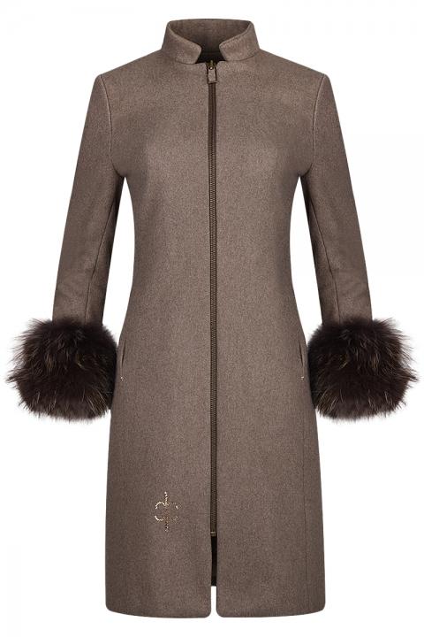 Дамско палто INVAZIA - Дамски дрехи  - Палта, Луксозни дрехи, бански 2018, промоция бански, комплект мама и бебе, ленени ризи, дрехи по поръчка, шапки с пух, дамски дрехи, дамски палта, Палта