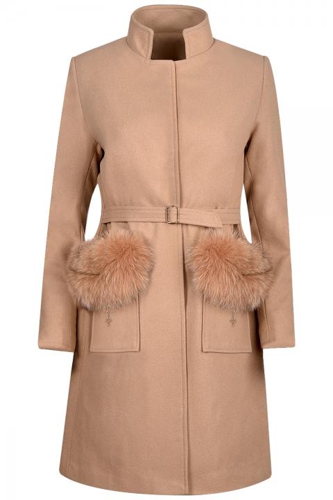 Дамско палто Meribel - Дамски дрехи  - Палта, Луксозни дрехи, бански 2018, промоция бански, комплект мама и бебе, ленени ризи, дрехи по поръчка, шапки с пух, дамски дрехи, дамски палта, Палта
