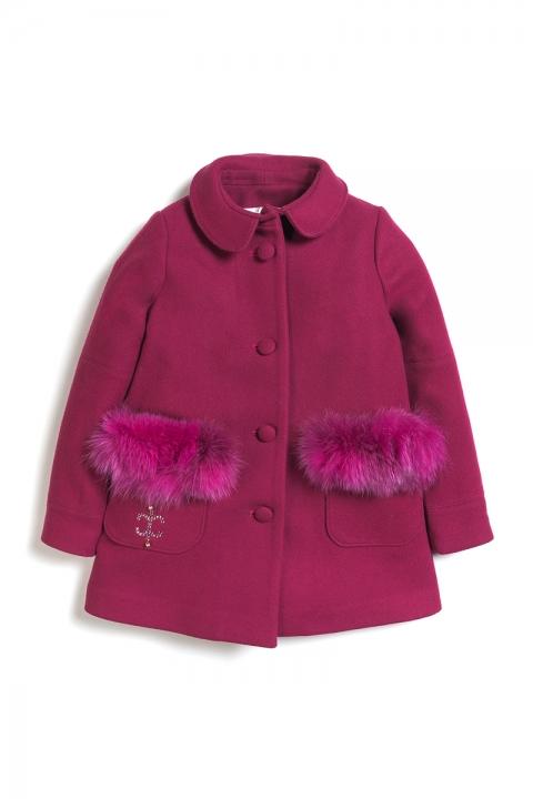 Детско палто Baby Coat & Fox - Детски дрехи  - Палта, Луксозни дрехи, бански 2018, промоция бански, комплект мама и бебе, ленени ризи, дрехи по поръчка, шапки с пух, дамски дрехи, дамски палта, Палта