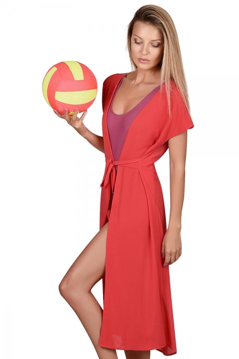 Плажна рокля - Бански  - Плажни дрехи, Луксозни дрехи, бански 2020, промоция бански, комплект мама и бебе, ленени ризи, дрехи по поръчка, шапки с пух, дамски дрехи, дамски палта, Плажни дрехи