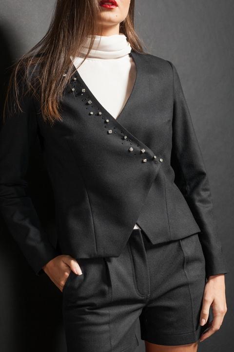 Лимитирана серия дамско сако  - Дамски дрехи  - Сака, Луксозни дрехи, бански 2018, промоция бански, комплект мама и бебе, ленени ризи, дрехи по поръчка, шапки с пух, дамски дрехи, дамски палта, Сака