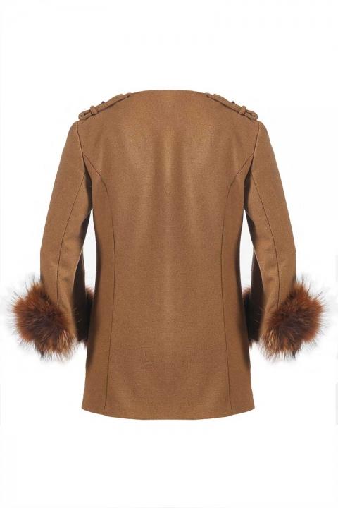 Дамско Палто с ръкав от лисица